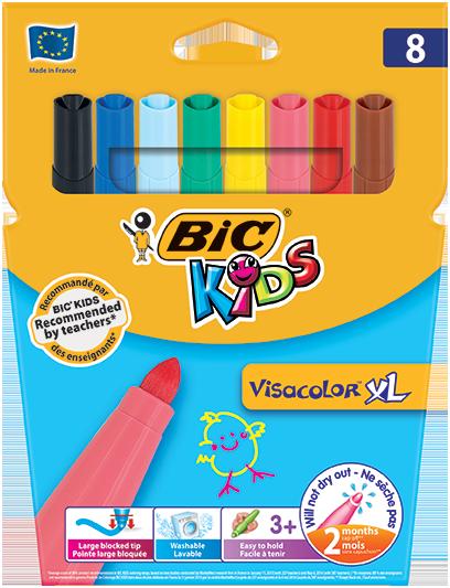 VISACOLOR™ XL felt pens 8 colors