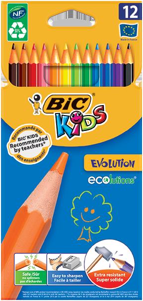 ECOLUTIONS™ EVOLUTION™ colouring pencils 12 colors