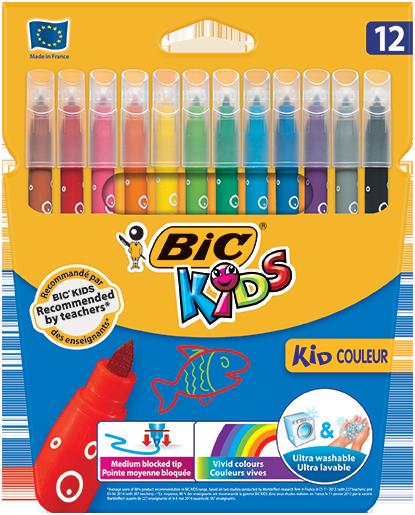 KID COULEUR felt pens 12 colors