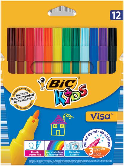 VISA™ felt pens 12 colors